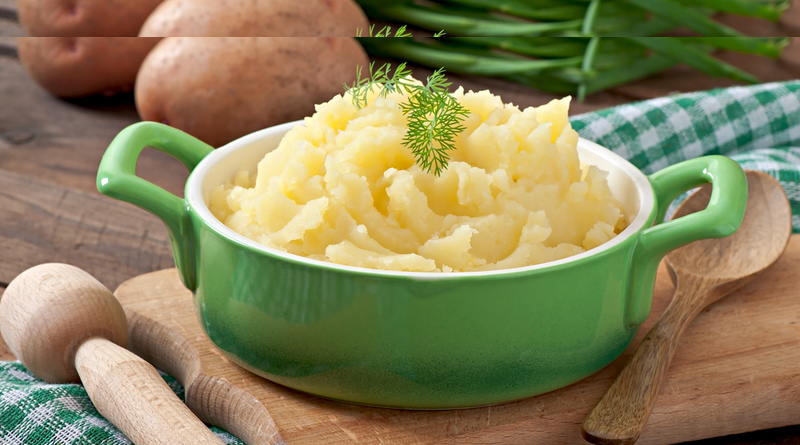 Mashed potatoes and butter puree