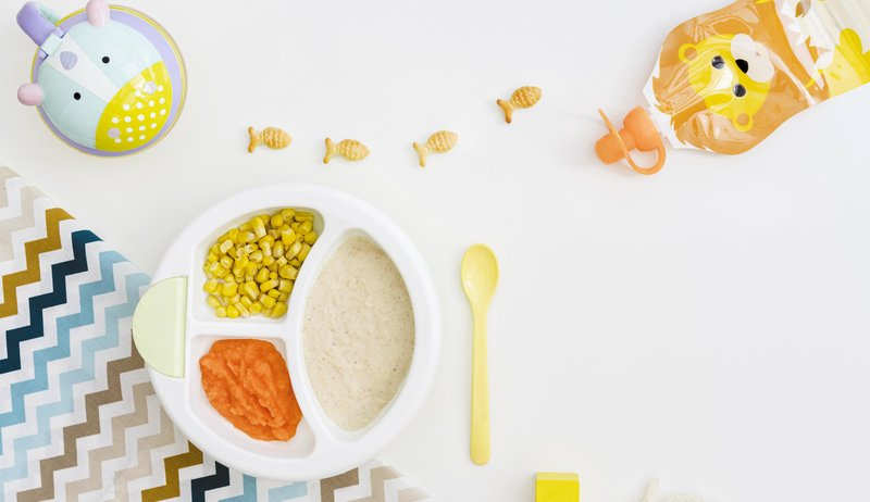 baby foods like purees and corns