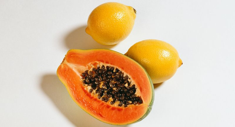 papaya and lemon