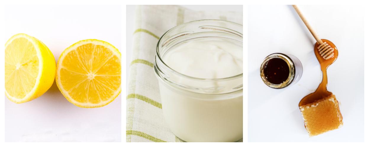 lemon, yogurt and honey