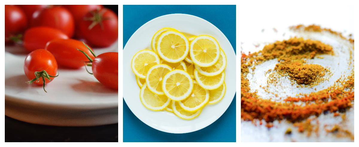tomato, lemon and turmeric