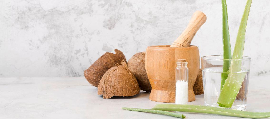 aloe vera and coconut oil for maximum hair growth