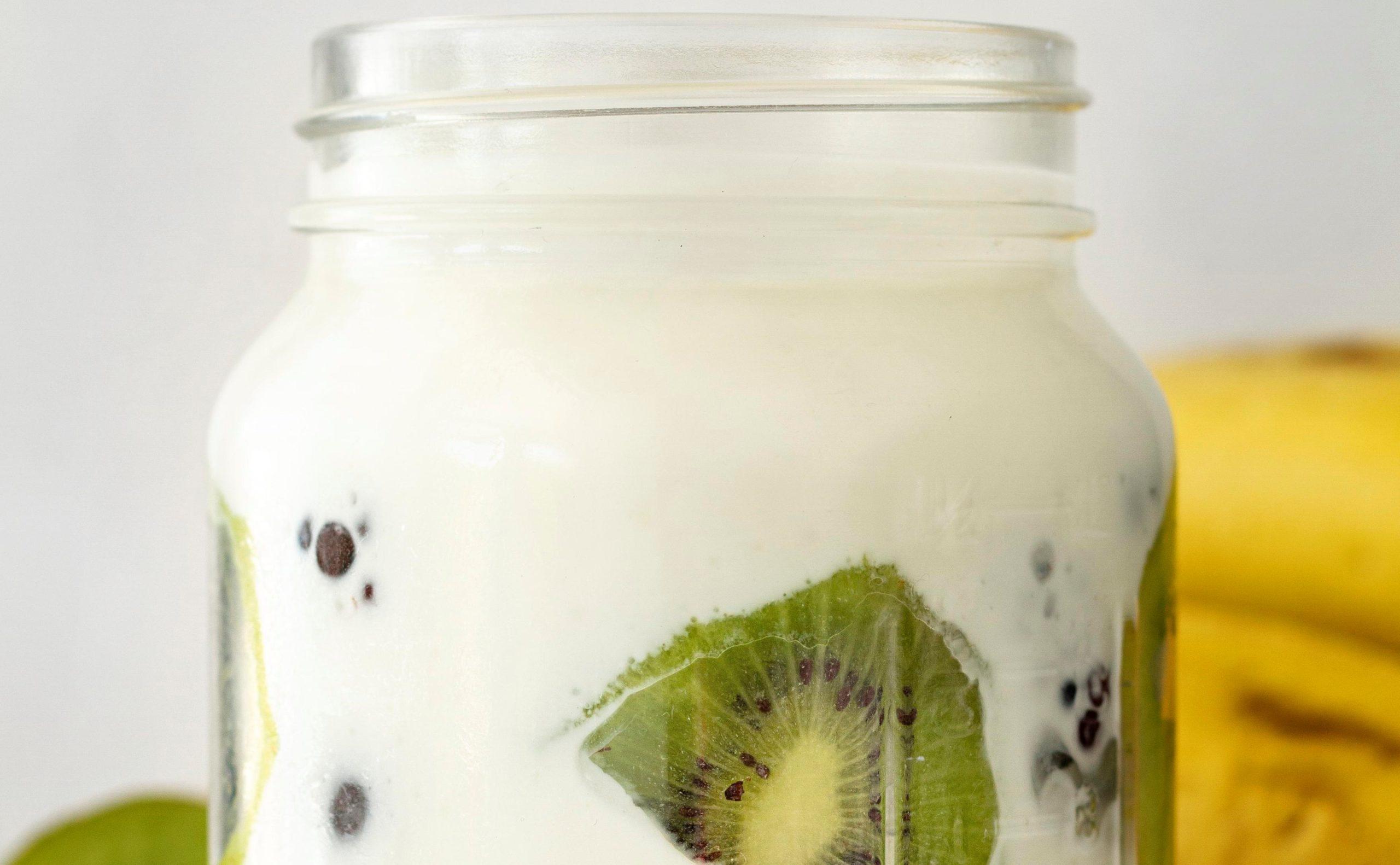 kiwi and Greek yogurt